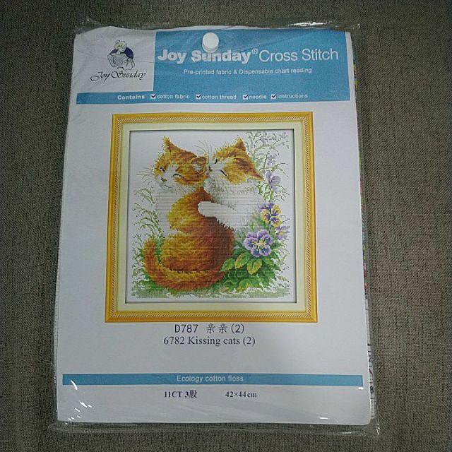 Garland 2 Joy Sunday Cross Stitch Kit 14CT Stamped Embroidery Kits Precise Printed Needlework 34/×34CM