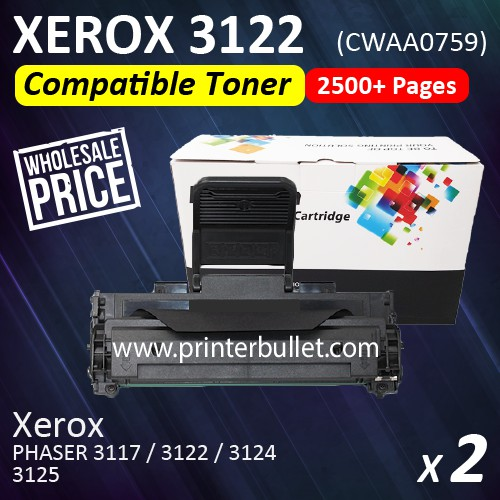 2 unit Fuji Xerox 3122 Compatible Laser Toner Cartridge