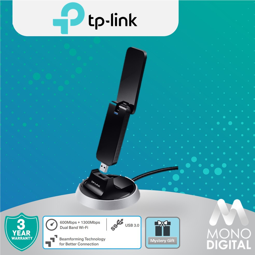 TP-Link Archer T9UH AC1900 Wireless High Gain Dual Band USB Adapter Wifi  Adapter