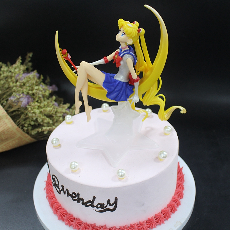 Miraculous Cartoon Sailor Moon Birthday Cake Decoration Figure Model Pretty Personalised Birthday Cards Paralily Jamesorg