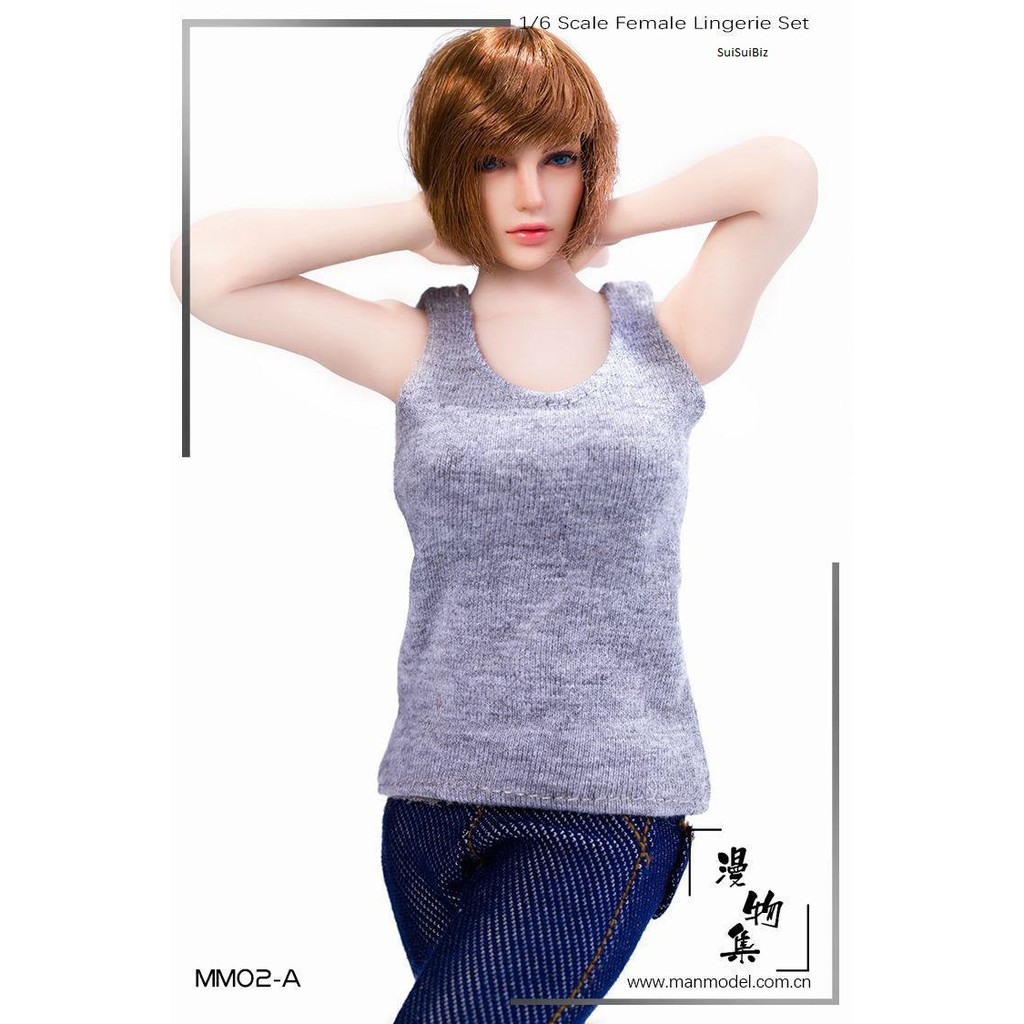 1 6 Manmodel Mm02 Round Neck Sleeveless Vest Male And Female Four Scale Colors Shopee Malaysia