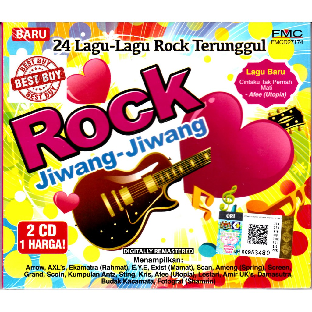 5 Kumpulan Pop Rock Terhebat II Mega Olan Ekamtra Spring Arrow 2CD ... eec5dc11ec