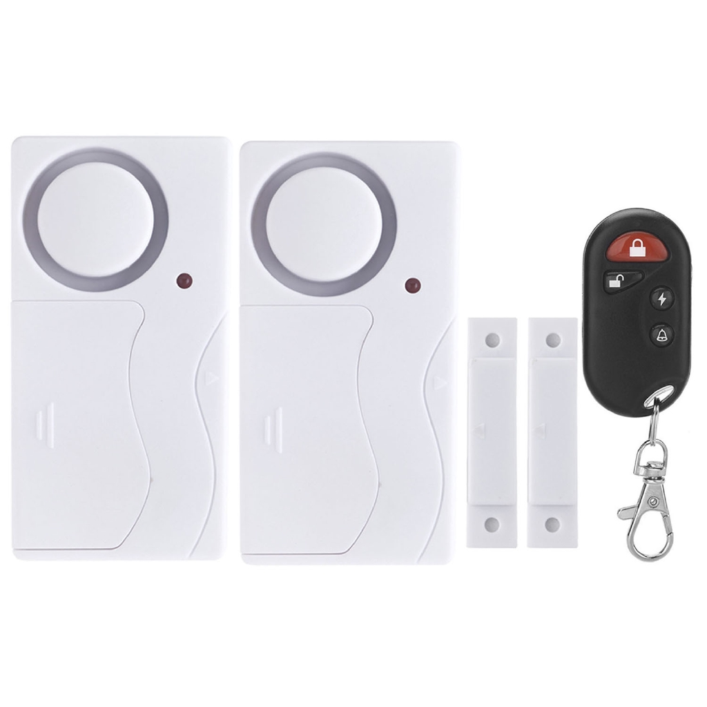 Wireless Home Door Window Sensor Magnetic Security Anti Theft Alarm And Infrared Monitoring Antitheft Circuit System 2 Hosts 1 Remote Control Shopee Malaysia