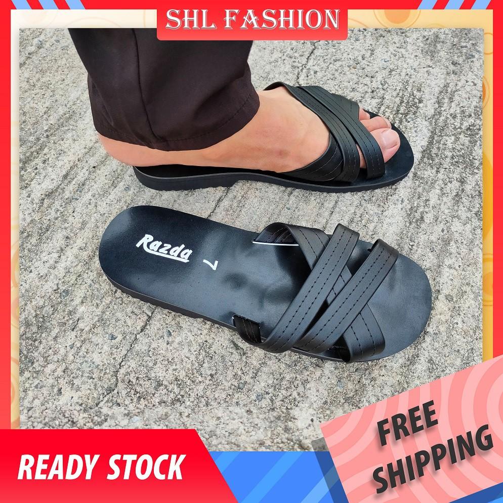 SHL VIVAA Ready Stock Men's Summer Fashion Slippers Casual Beach Sandals Selipar fesyen kasual luar lelaki