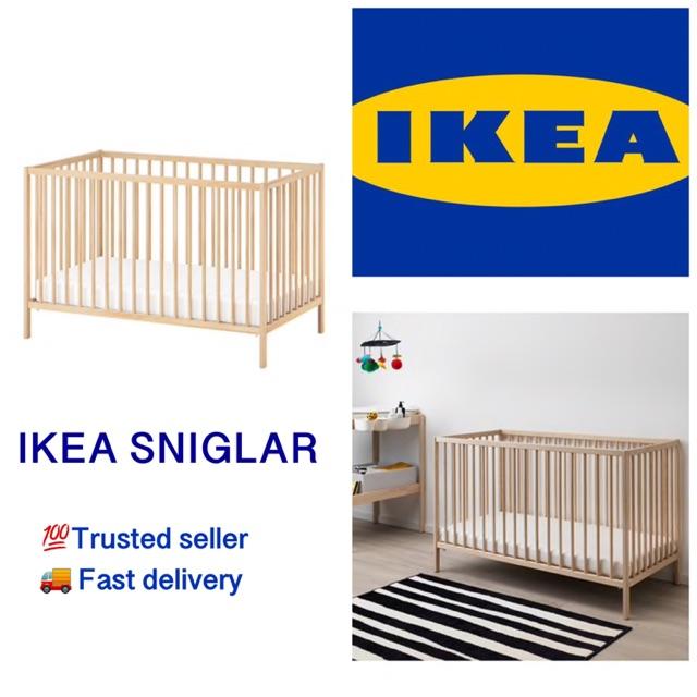 Ikea Sniglar Baby Cot Tilam Bayi