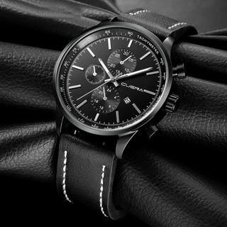 Men's Business Luxury Faux Leather Band Glass Quartz Wrist Watch Gift Decor
