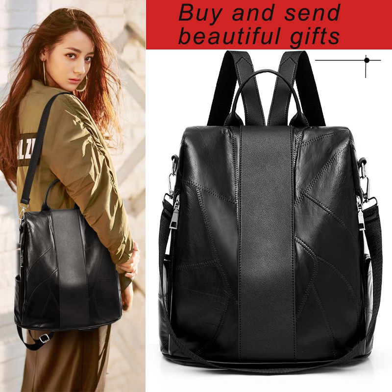Sports New Leather Backpack Bag Outdoor Casual Ready Stock Women Travel Fashion OZuPkXTi