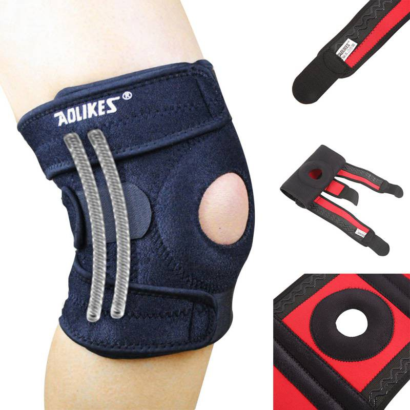 1e0b6f6187 Aolikes Sport Knee Support Hiking Jogging Sleeve Brace Protector (1Pair) |  Shopee Malaysia