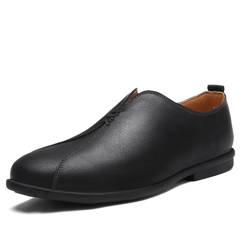 รองเท้าหนังวัวผู้ชาย Slip-On Men รองเท้าสำหรับข
