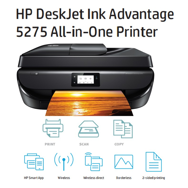 HP DeskJet Ink Advantage 5275 All-in-One Printer (Print, copy, scan, fax,  photo)