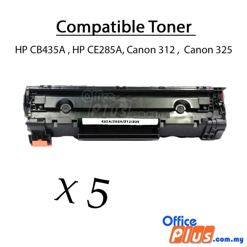 2x Compatibletoner Hp Ce285a Cb435a Canon 325 312 Lbp3050 Lbp6030 Toner 35a Compatible Laserjet P1002 P1003 P1004 P1005 P1006 P1009 Grade A P1102 Mf3010 Shopee Malaysia