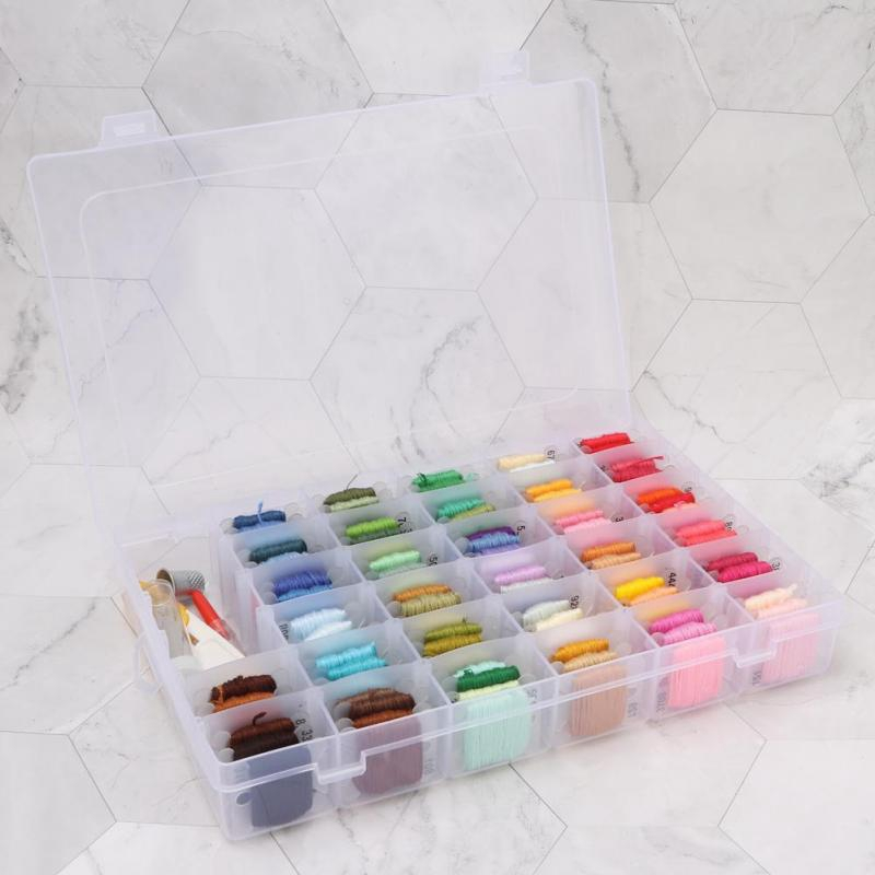 Superparis Embroidery Starter Kit 100 Color Embroidery Threads DIY Cross Stitch Tool Kit Embroidery Needle Kit for Adult