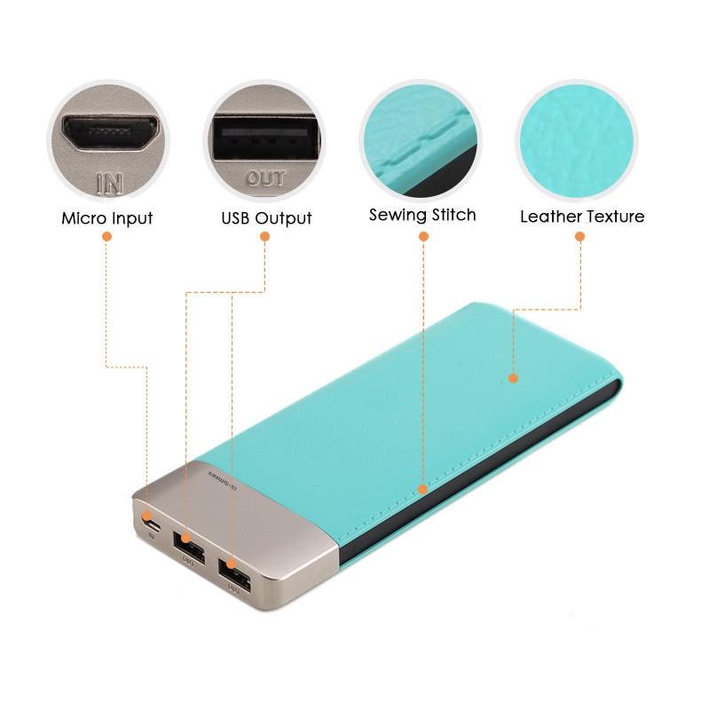 High Quality G-SMAR 9000mAh Powerbank Dual Port, Slim and Light (DP663)