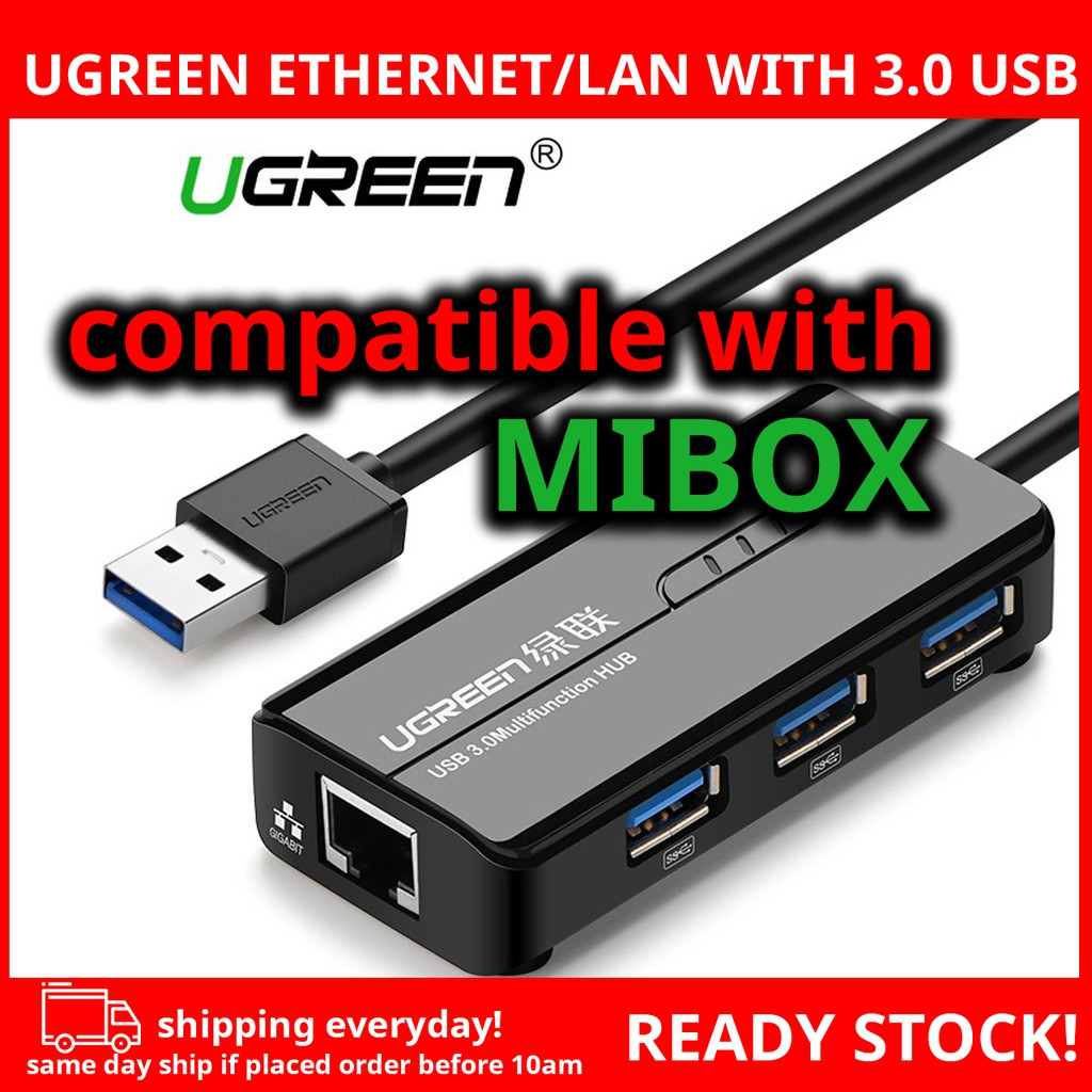 Ethernet Adapter USB 3.0 To RJ45 Lan Network Card For Xiaomi Mi Box 3 Android  TV