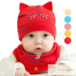 eed787b21 Autumn Winter Infant Knitted Hat Scarf Warm Cute Beanies Newborn Boy ...