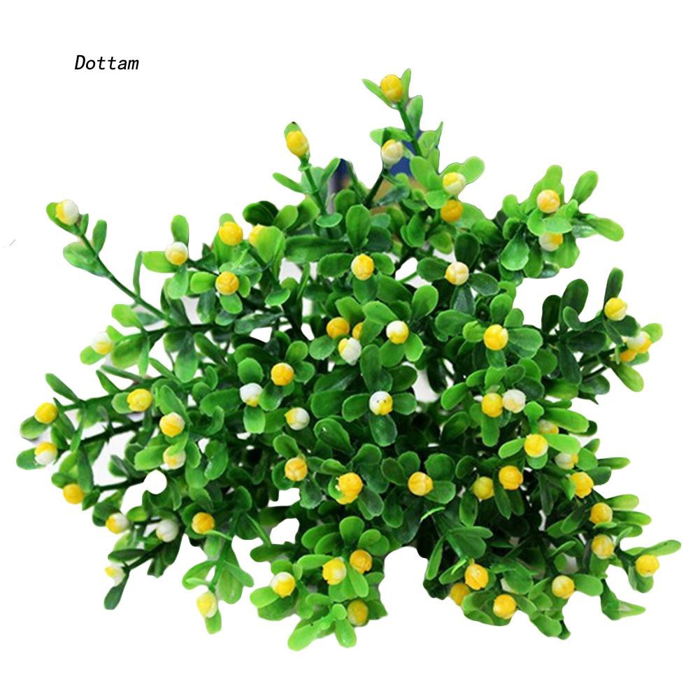 DTTM_15 Heads Artificial Aglaia Odorata Flowers Plant Home Wedding Party  Decoration