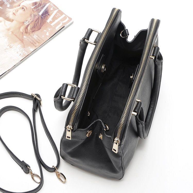 Lulugift 2018 New Style Portable Handbags Fashion Double Zipper Casual Shoulder