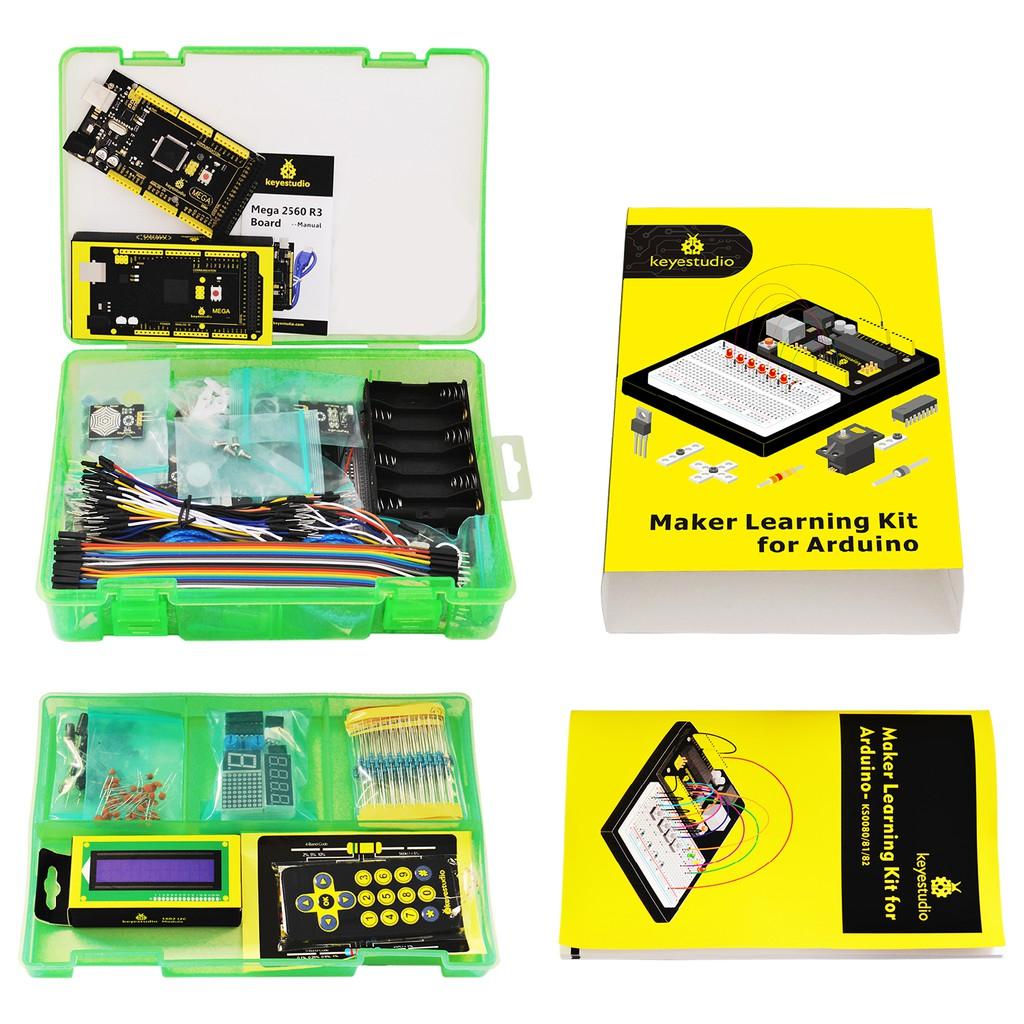 Keyestudio MEGA 2560 R3 DHT11 NE555P 1602 LCD HC-SR04 Sensor Kit für  Arduino DE