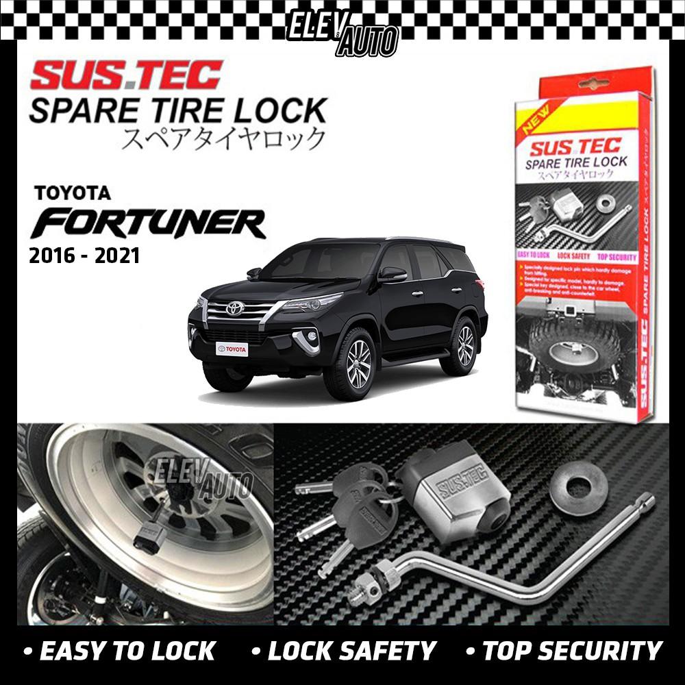 SUSTEC Spare Tire Wheel Lock Anti-Theft Toyota Fortuner 2016-2021