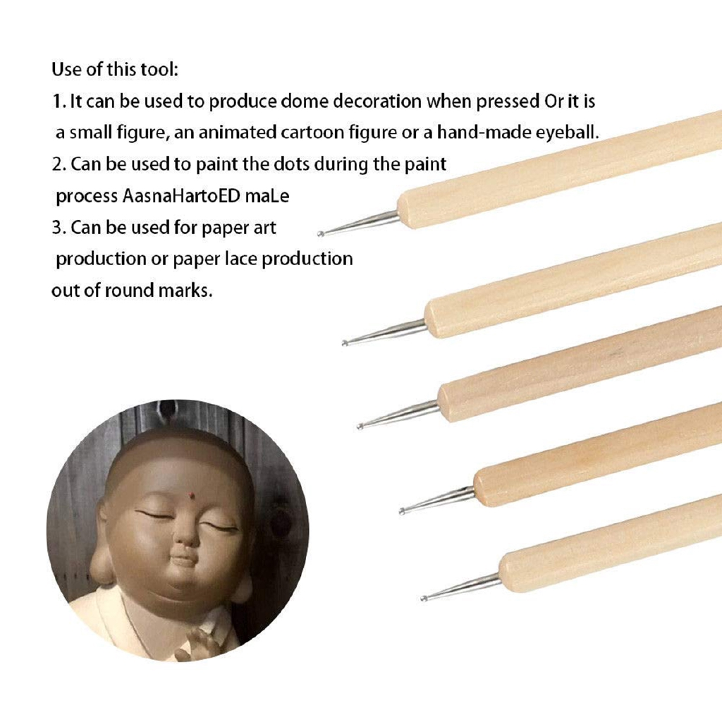 45PCS Pottery Clay Sculpture Shaping Brushing Carving Modelling Ceramic Tools