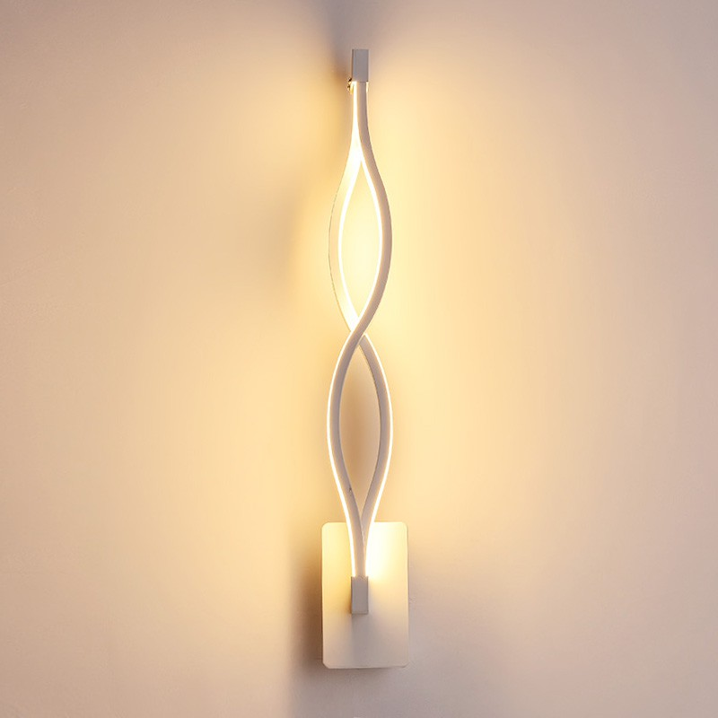 b4b442a5a995 ProductImage. ProductImage. Modern Aluminum Acrylic Wall Sconce Light Lamp  for Bedroom Living Room