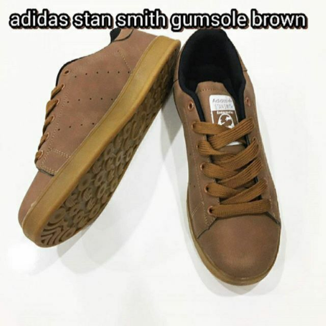 online retailer 11e99 06968 adidas stan smith gumsole brown