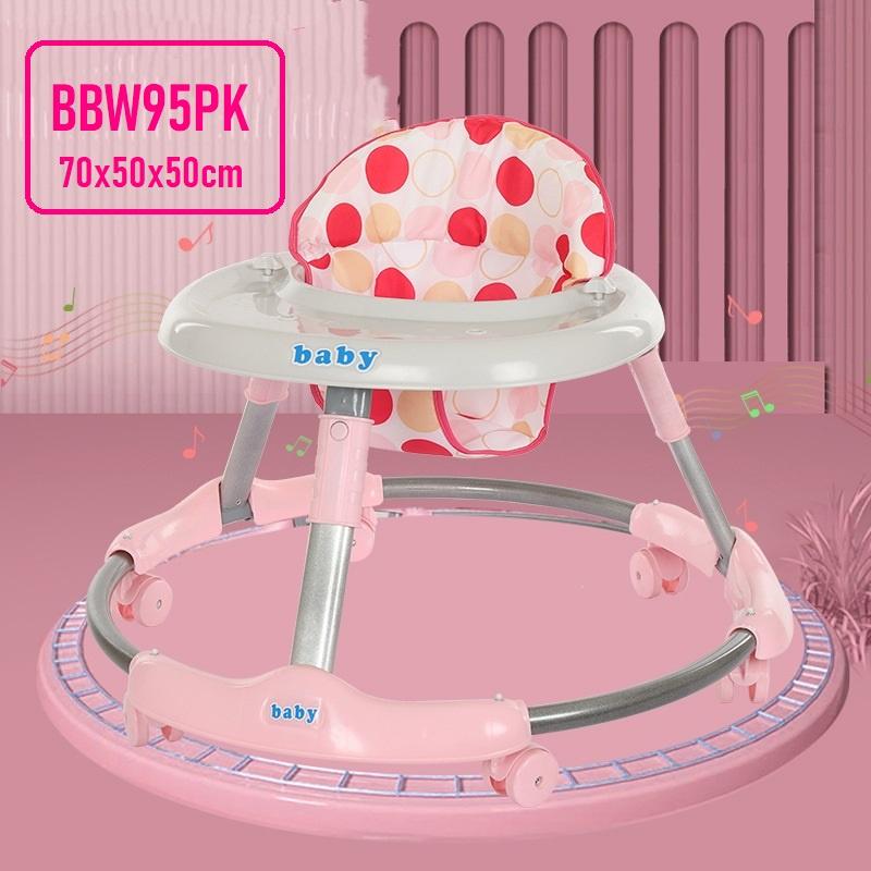 [ READY STOCK ]  Kid Learning Balance Folding Baby Walker Push Walker Jualan Murah Budak Simpanan Storage Kerusi Chair