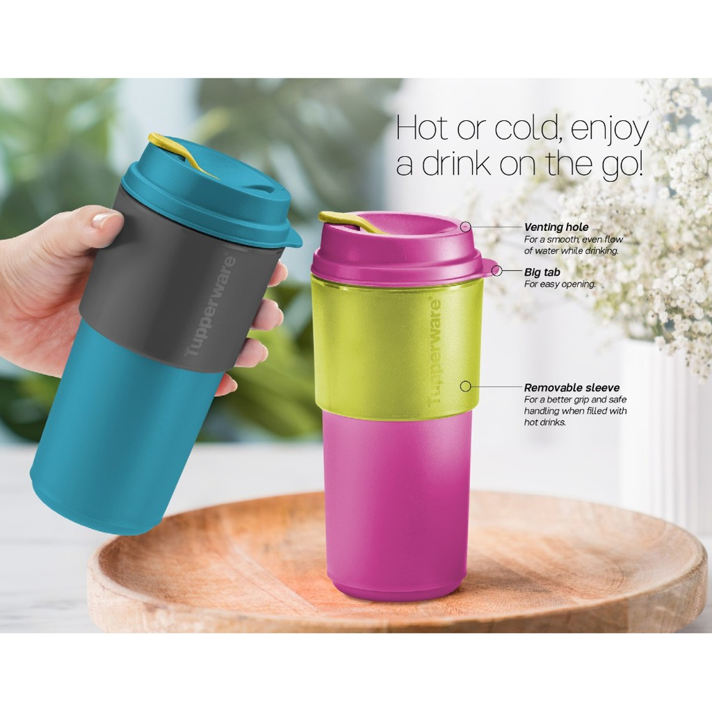 Tupperware Coffee To Go (1) 490ml - Pink / Blue / PWP