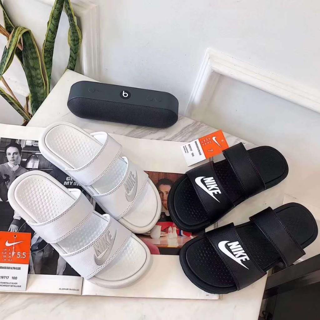online retailer c6616 d6ed7 NIKE Flip Flops Benassi JDI Slide Pool Slippers Beach Sandals Couple Sandals