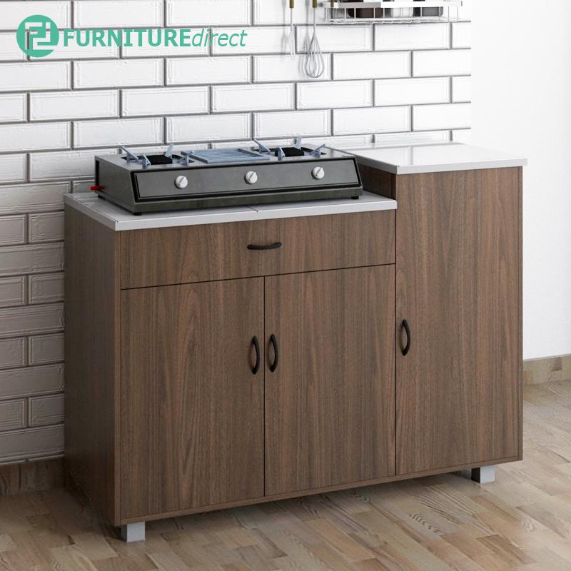 Furniture Direct FREY tile top kitchen cabinet/ tile top/ mosaic top