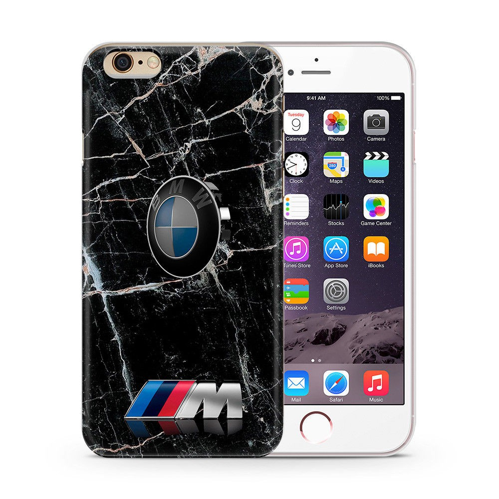 newest d858f e7ce7 BMW M Power Black Crack Design Phone Case Cover for Iphone 5 6 7 8 Plus X