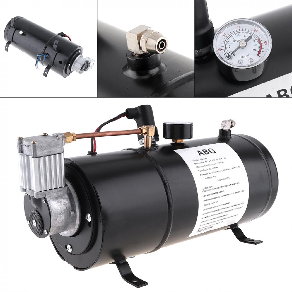 Air Horn Compressor >> Universal 12v 125 Psi Air Horn Compressor For Train Auto Car Truck Boat