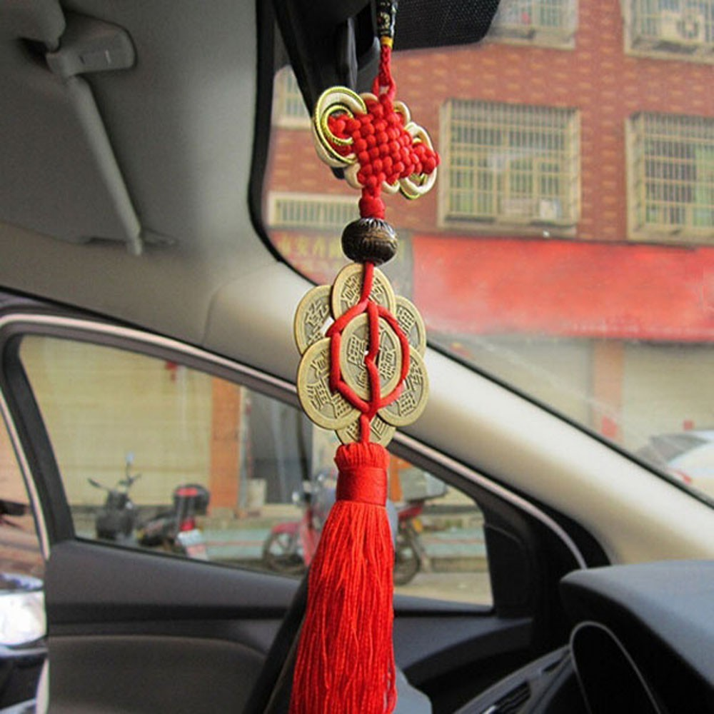 Novel Car Pendant Chinese Knot Tassel 1 Pc Vintage New Retro Charm Auto Decor CF