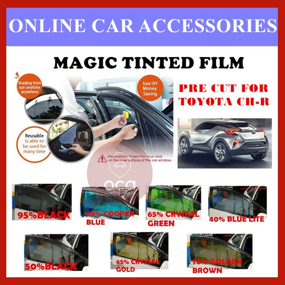 Toyota C-HR - Pre-Cut Shape Magic Tinted Solar Tinted (4 Windows & 2 Triangle /4 Windows+Rear)