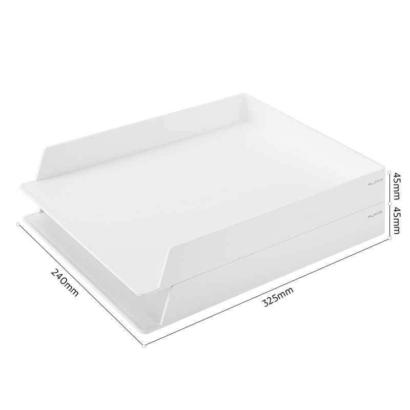 Jadi NuSign Pure White Bookstand Desk Organizer File Tray Pen Holder White Premium Office Set