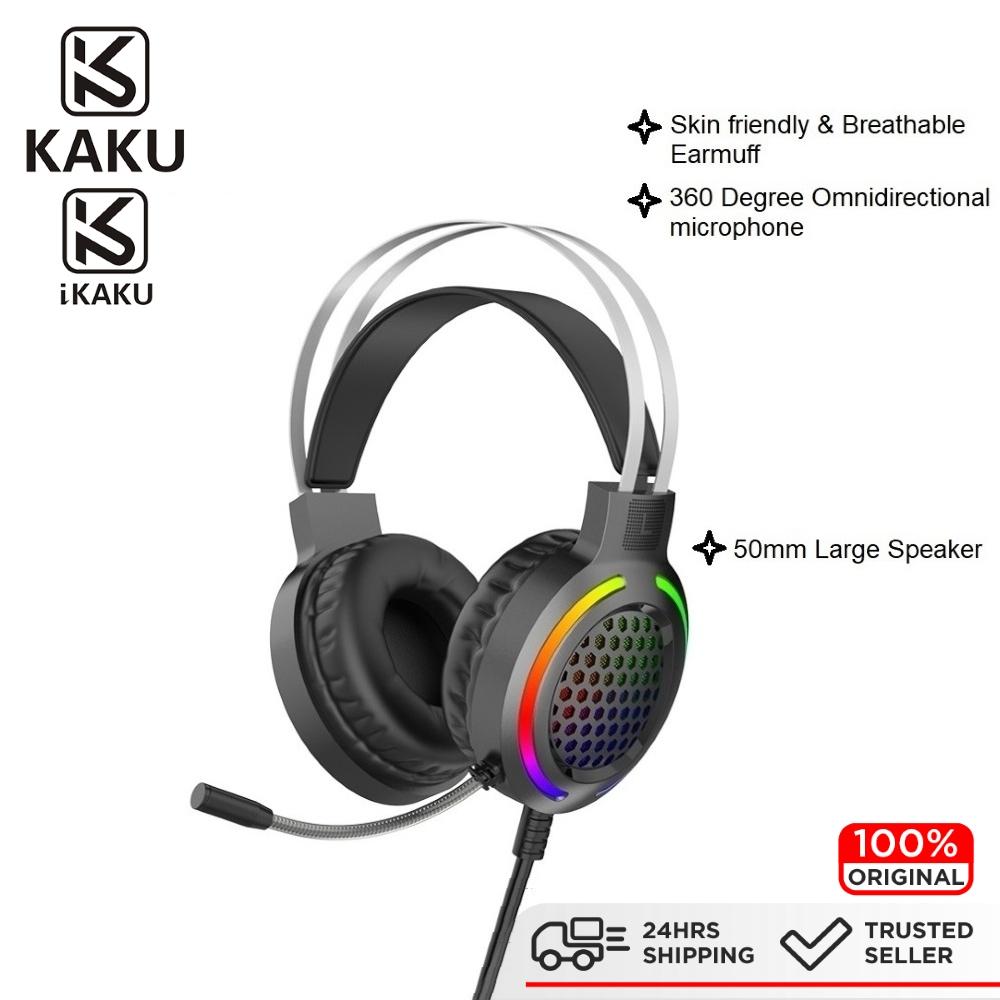 IKAKU KAKU YOUMING Gaming Headphone Wired 3.5mm Stereo HD Sound Quality Lightning Breathing Effect PC Laptop Windows