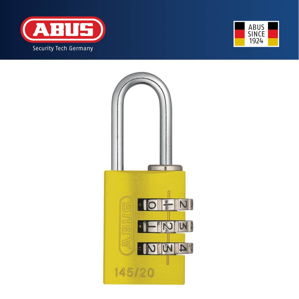a4561432439c Abus 145/20 Aluminium Combination Padlock