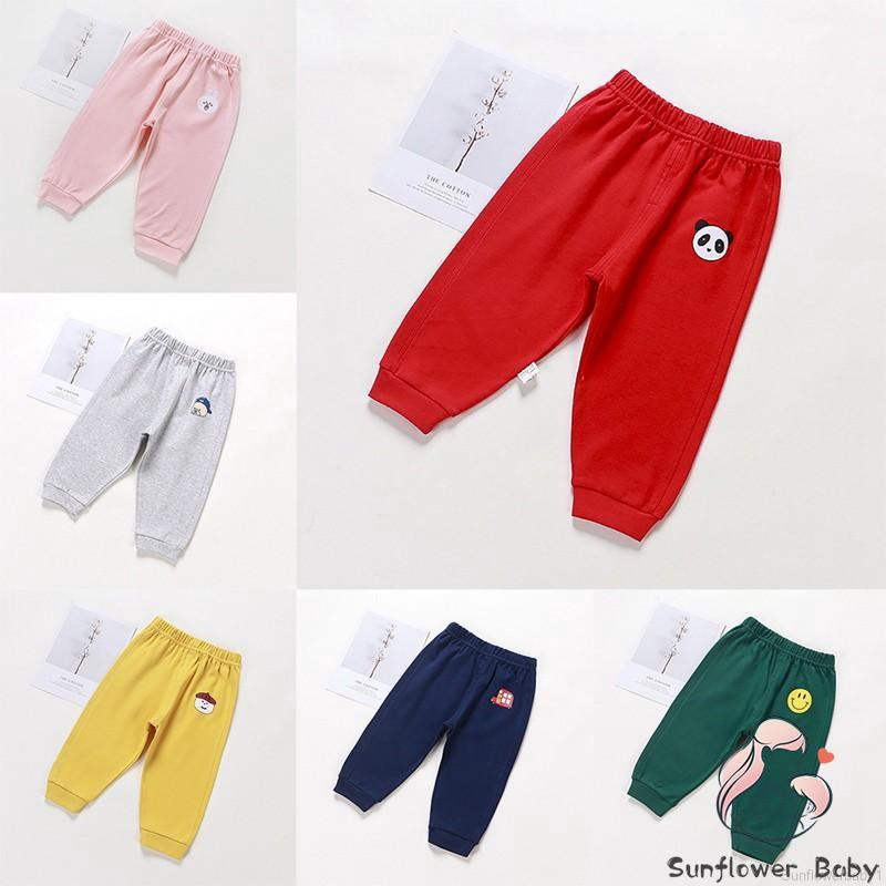 Kids Baby Boy Girl Long Pants Trousers Leggings Sweatpants Harem Bottoms 2-7 Y