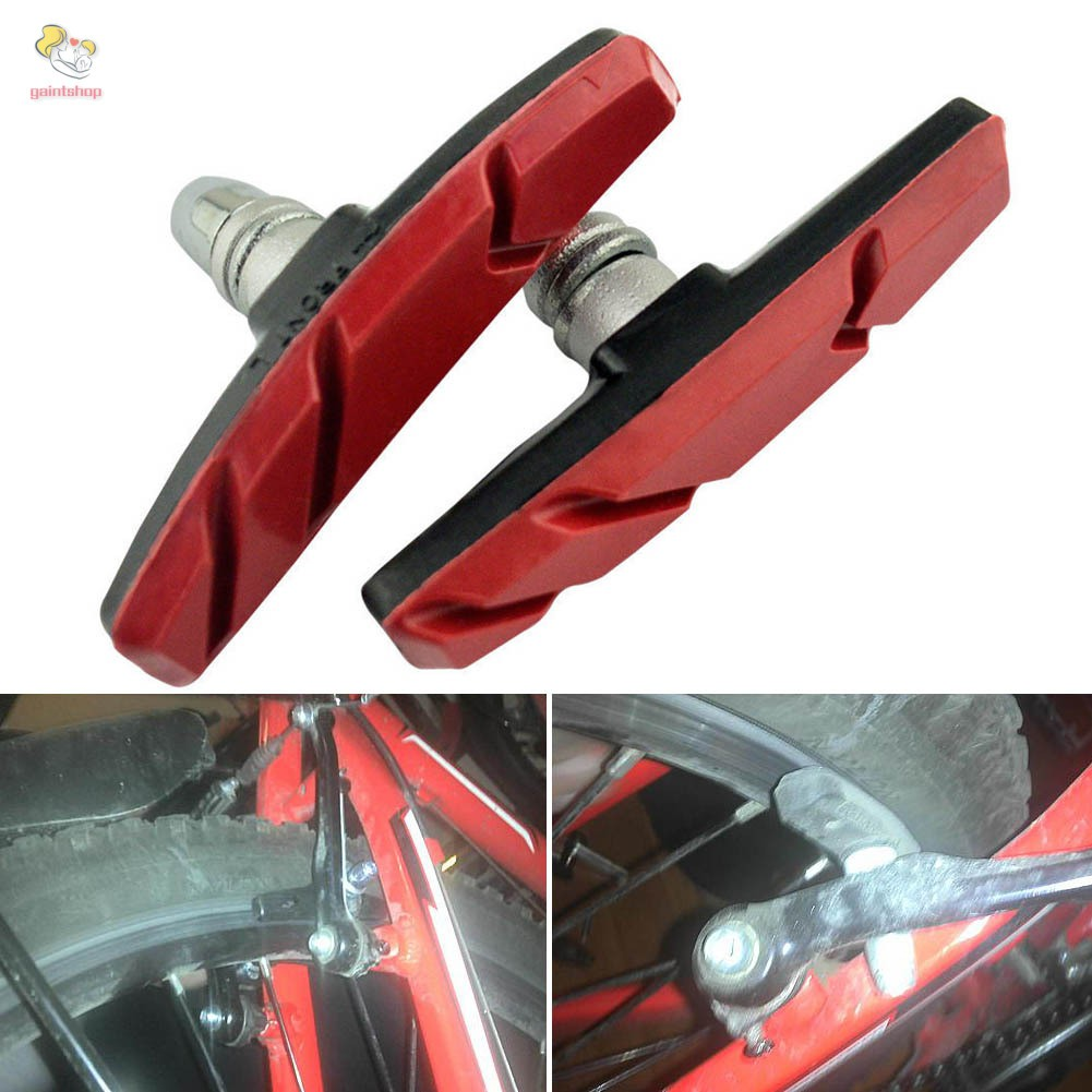 Mountain Bike Road Cycling Rubber V Brake Holder Shoes Pads Accessories 1 pair