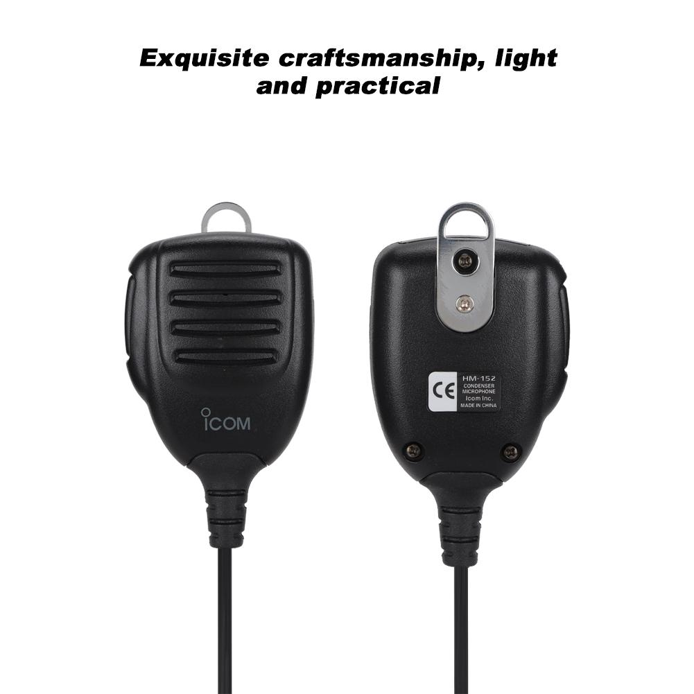 Welcomehome Hand Microphone Mobile, Portable Walkie Talkie Radio Hand  Microphone for ICOM F121/F210/F221/F621TR/F5011