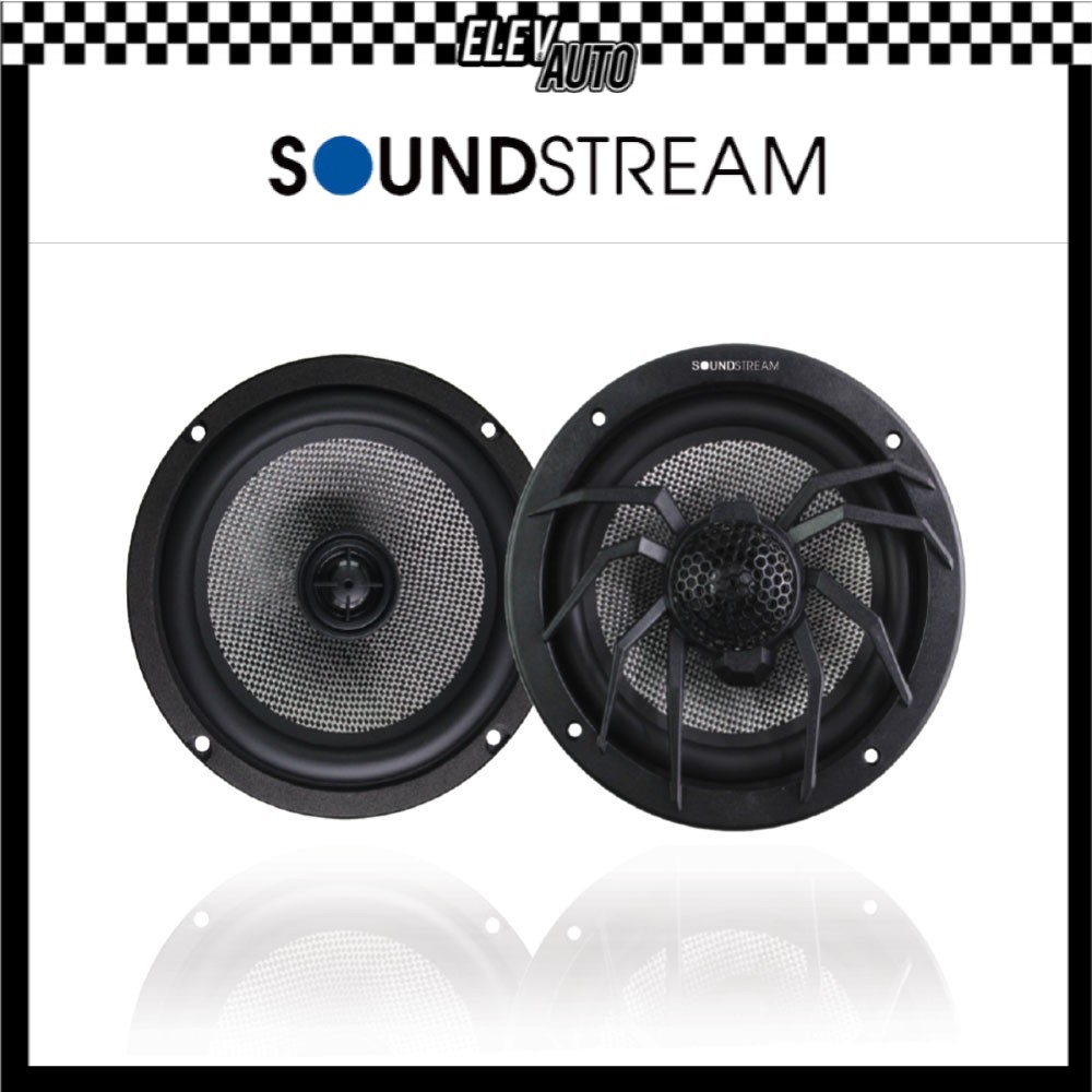 """Soundstream 2 way Coaxial speaker with Glass Fiber Knitting Cone Woofer LX.652(6.5"""")"""