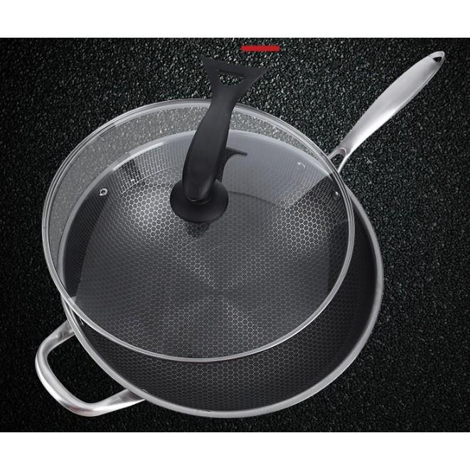 Frying pan 34cm Non Stick 304 Stainless Steel Wok Cooking Pan NEW 6th generation Pan Memasak 防刮不粘锅 (第六代)