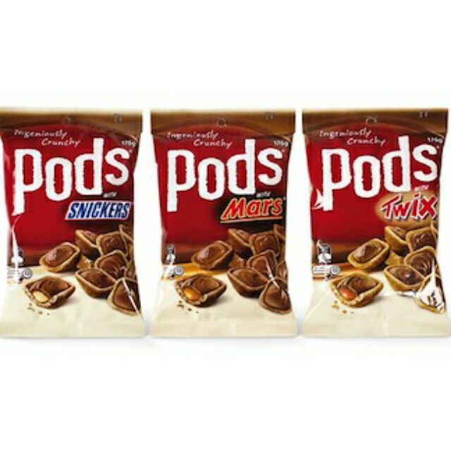 Pods with Mars/ Twix / Snickers (160g) IMPORTED & READY STOCK
