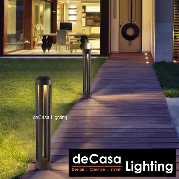 DECASA LIGHTING Outdoor Bollard 12W LED Warm White Pole Light Outdoor Garden Light Landscape Light Lampu Tiang (8400)