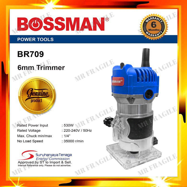 BOSSMAN BR709 6MM TRIMMER / ROUTER BR 709