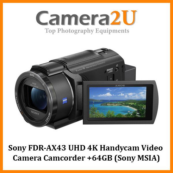 READY STOCK Sony FDR-AX43 UHD 4K Handycam Video Camera Camcorder +64GB (Sony MSIA)