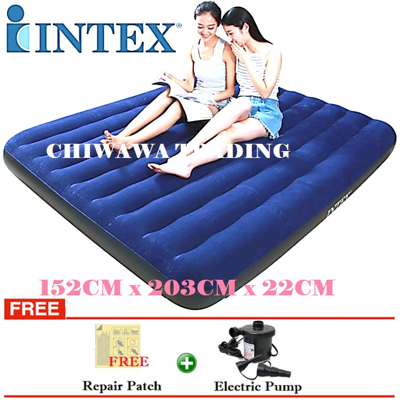 PROMOTION 64759  INTEX Inflatable Bubble Air Mattress Relax Massage Air Bed Sofa