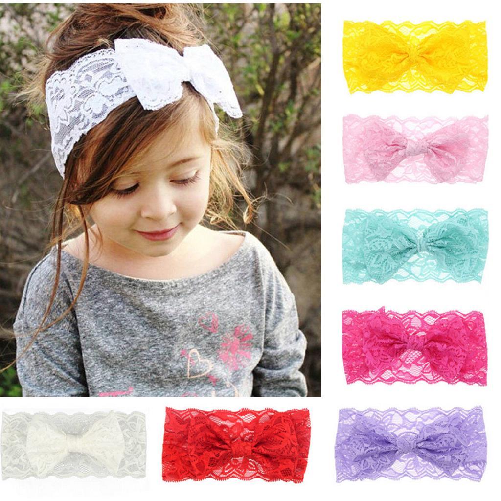 0Baby Girl Rabbit Flowers Ears Hair Band Turban Elastic Cloth Bowknot Headband W