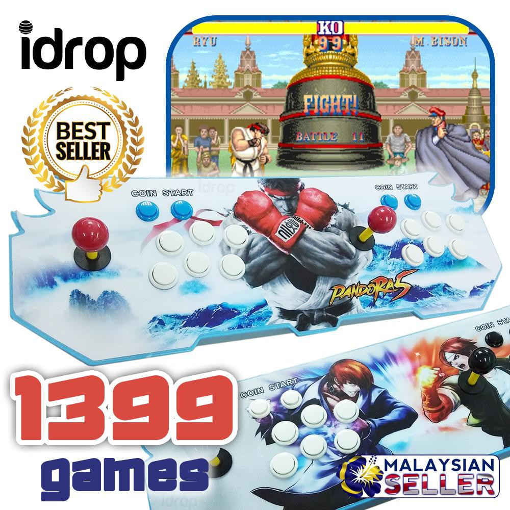 Idrop 1399 IN 1 RETRO GAME - Multiplayer Double Joystick Gaming Console |  Shopee Malaysia