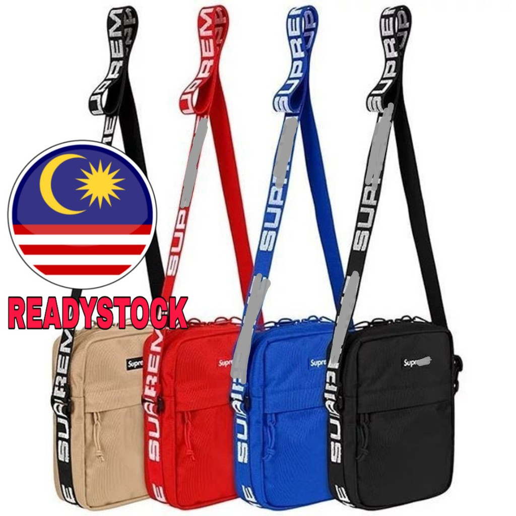 Malaysia Ready Stock] Supreme SS18 Shoulder Bag Sling Bag Cross